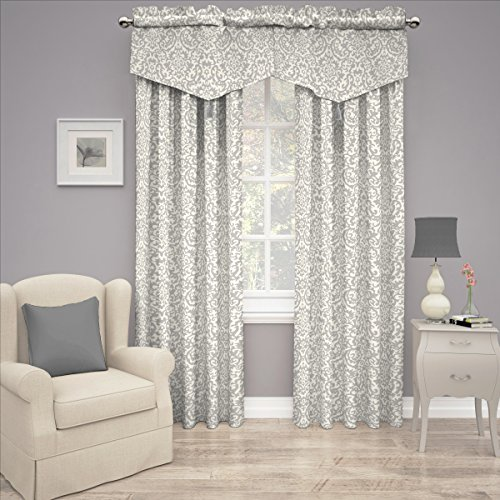 Traditions by Waverly 14973052084SLG Duncan Damask 52-Inch by 84-Inch Single Window Curtain Panel, (Waverly Damask)