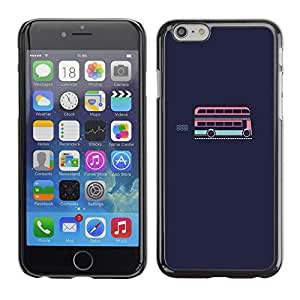 Soft Silicone Rubber Case Hard Cover Protective Accessory Compatible with Apple iPhone? 6 (4.7 Inch) - bus London double decker minimalist