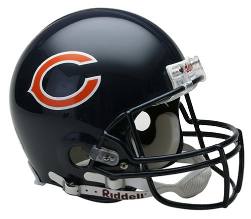 (NFL Chicago Bears Full Size Proline VSR4 Football Helmet)