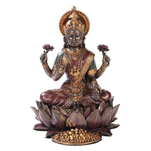 lakshmi-on-lotus-hinduism-display-statue