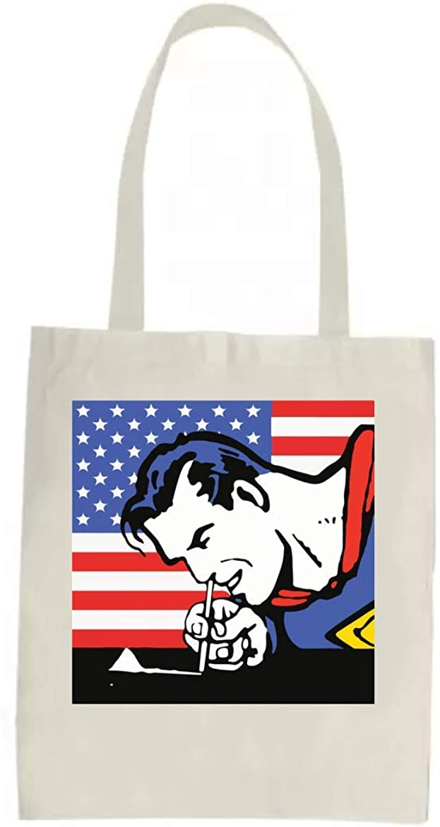 Superman Doing Some Cocaine Tote Bag Bolsa de compras divertida