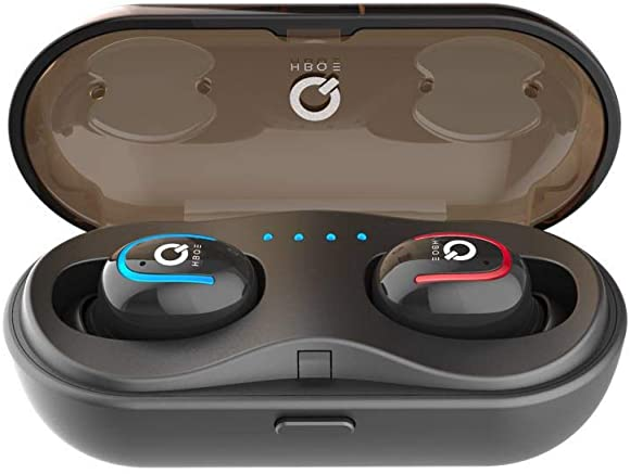 True 5.0 Bluetooth Headphones Wireless Earbuds with Charging Case, TWS Hi-Fi 3D Stereo Sound Earphones Cordless Headsets Binaural Calls, One-Step Pairing, Left Right Single Couple Ear Modes