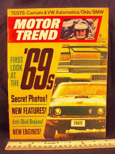 1968 68 July MOTOR TREND Magazine (Features: Test on Dodge Dart Hemi, BMW 2002, Camaro, Volkswagen, Toyota Corolla, & Oldsmobile)