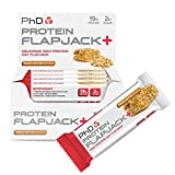 PhD Nutrition High Protein Flapjack+ Bars, Peanut Butter, 75 g - Pack of 12