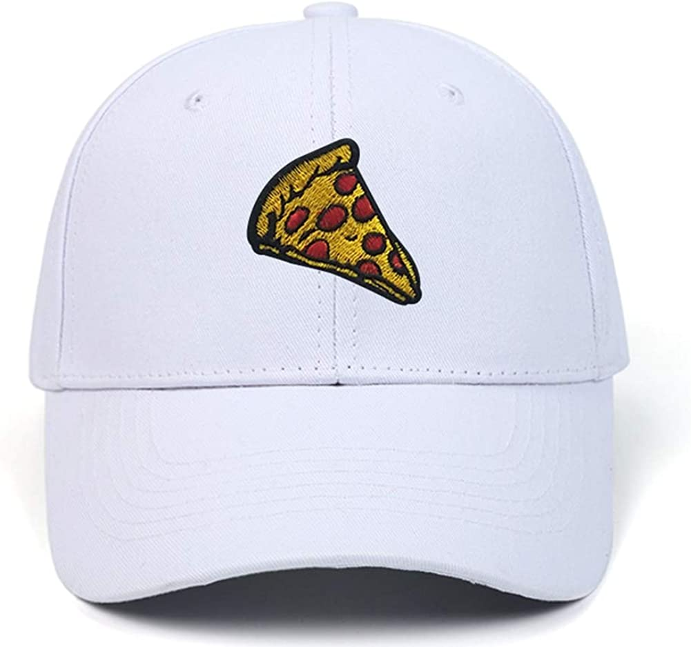 Pepperoni Pizza Embroidery Baseball Cap Dad Hat Unisex Adjustable Hip hop Food Hat