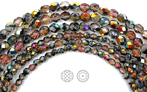 6mm-204-crystal-santander-coated-3x16in-strands-czech-fire-polished-round-faceted-glass-beads
