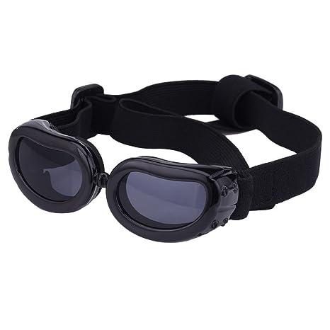 Gafas de sol para mascotas, con protección UV, impermeables, cortavientos y