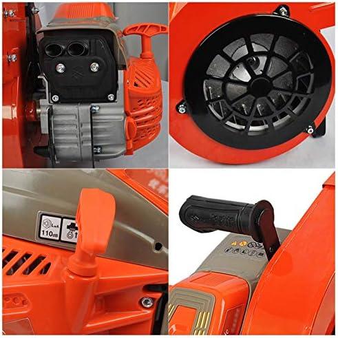 ZWYSL 2-Stroke Petrol Handheld Leaf Blower, Powerful 60cc Snow Blower Gasoline Blower for Clears Leaves, Snow, Sand, Gravel Orange