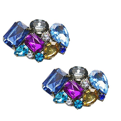 Multi Colored Shoe Clips Blues Vienna by Absolutely Audrey