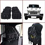 General Mega 2 X Roll Cage Multi-Pockets Storage & Organizers & Cargo Bag Saddlebag For 2007-2016 Jeep Wrangler JK 4-door Tool Kits Bottle Drink Phone Tissue Gadget Holder