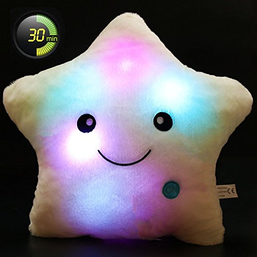 Creative Star Pillow Glowing LED Night Light Star Shape Plush Pillow Stuffed Toys For Sale
