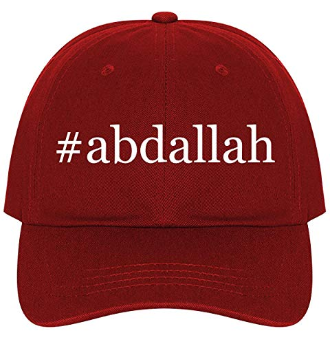 #Abdallah - A Nice Comfortable Adjustable Hashtag Dad Hat Cap, Red