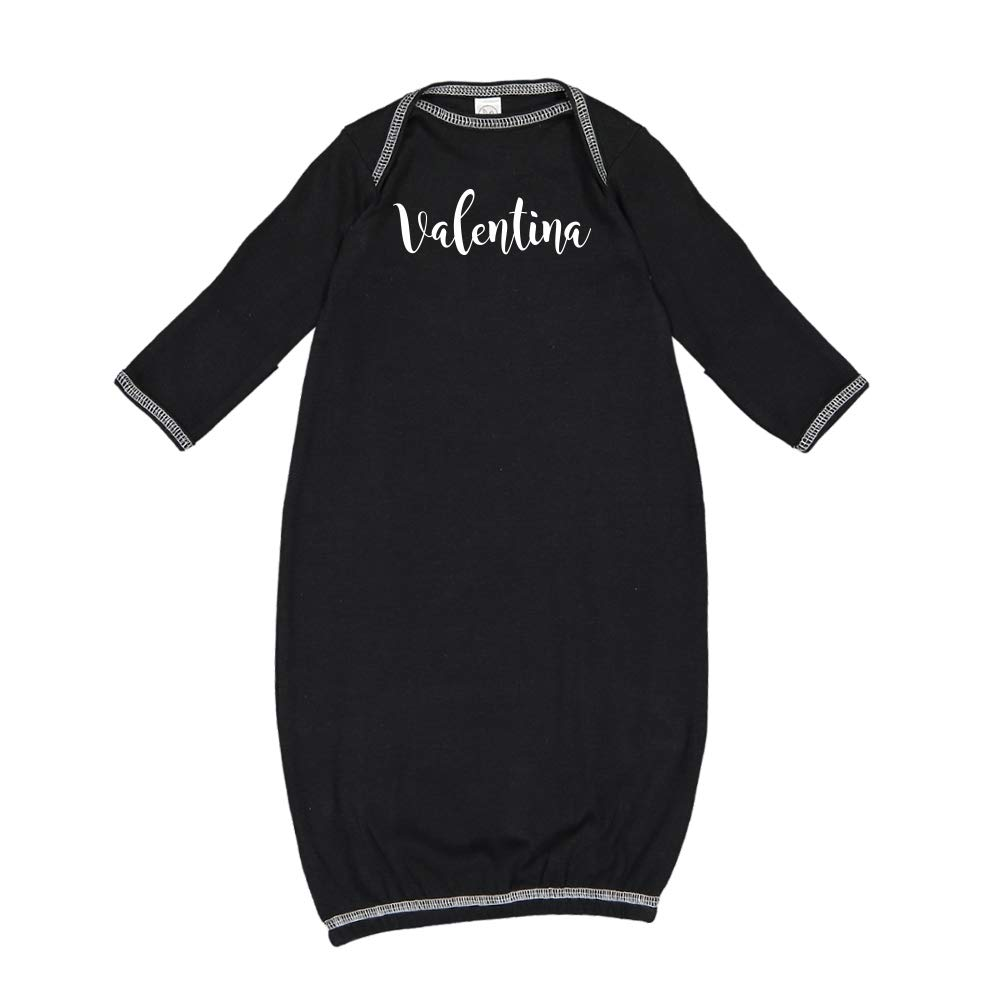 Mashed Clothing Valentina Personalized Name Baby Cotton Sleeper Gown