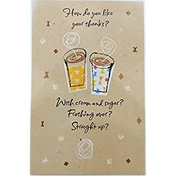 Amazon thanks a latte thank you cards note cards set of 12 how do you like your thanks thanks a latte thank you greeting card m4hsunfo