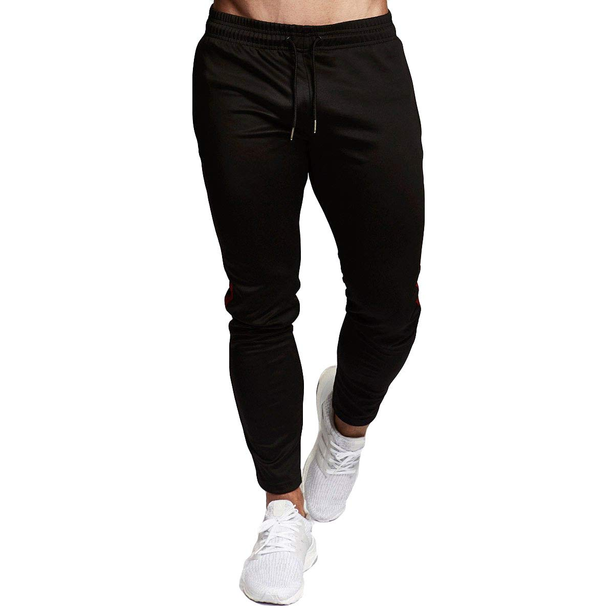 Maca.lina Mens Slim Striped Sweatpants Joggers Leggings Long Pants