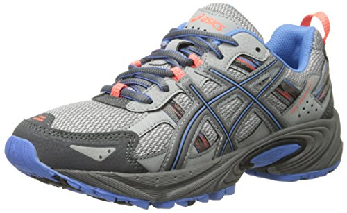 ASICS Women's Gel-Venture 5 Running Shoe, Silver Grey/Carbon/Dutch Blue, 9.5 M US