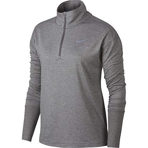 Nike Women's Element 1/2 Zip Running Top Gunsmoke/Atmosphere Grey Size Small by Nike (Image #1)
