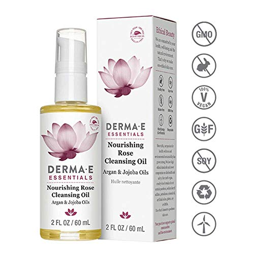 DERMA E Nourishing Rose Cleansing Oil, 2 Fl Oz