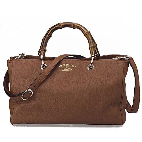 Gucci Bamboo Leather Tote Handbag