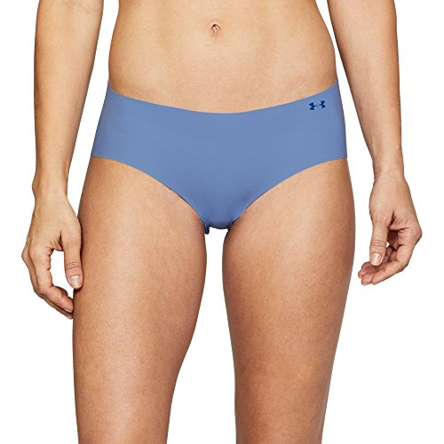 Under Armour Women's Pure Stretch Hipster Underwear, Talc Blue/Formation Blue, Large