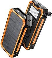 【2020年最新版18W急速充電30000mAh 】モバイルバッテリー ソーラーチャージャー 大容量 ソーラー充電器 急速充電 3USB+1Type-C出力ポート 地震/災害/旅行/出張/アウトドア活動など iPhone/iPad/Android対応