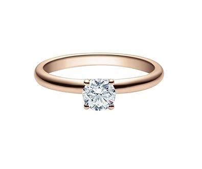 2a41c97b39f6 Anillo de compromiso en rojo oro/oro rosa con diamante en de 4 ...