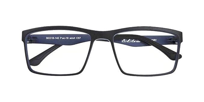 67c2f22576b7 Image Unavailable. Image not available for. Color  Black + Light Blue  Memory ULTEM Flexible Myopia Glasses Men Women Optical Eyeglass Frame  Eyewear Rx