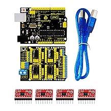 Next Keyestudio 3D Shield V3 + UNO R3 + 4pcs A4988 Driver /GRBL for Arduino ARD2037