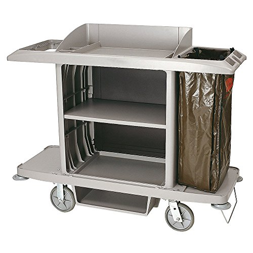 Rubbermaid 6189 Gray Full Size Housekeeping Cart (FG618900PLAT) by Rubbermaid