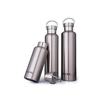Amazon.com: Muziwenju - Botella de agua grande de acero ...