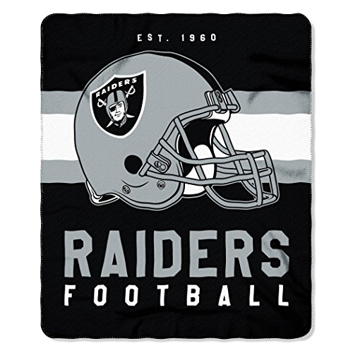 Raiders Oakland Blanket Nfl Fleece - The Northwest Company NFL Oakland Raiders Singular Fleece Throw, 50-inch by 60-inch, Black