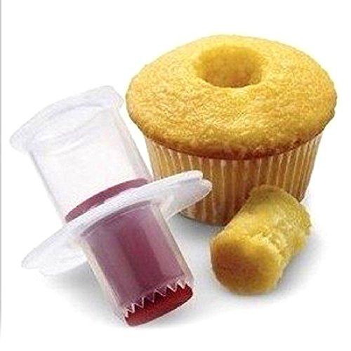 1PC Cake Corer Plunger Cutter Decorating Pastry Divider Filler Random Cupcake
