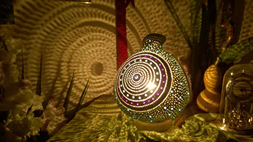 Now in Turquoise Evil Eye Best Seller Gourd Lamp Night Light Unique Birthday Anniversary Christmas Gift Idea Eclectic Home Decor ()