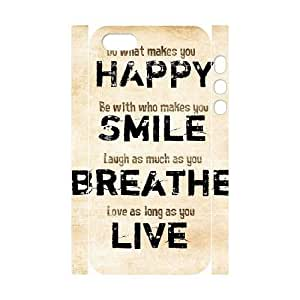 DIY High Quality Case for Iphone 5,5S 3D, Happy Life Phone Case - HL-503776