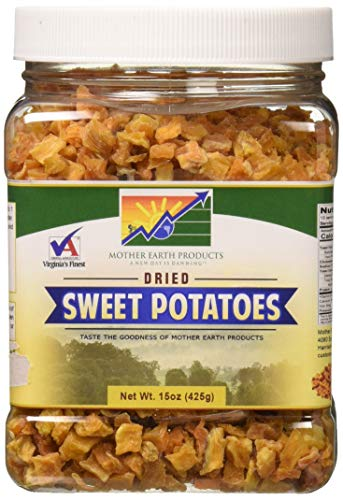 Mother Earth Products Dried Sweet Potato Dices, 15 ()