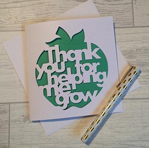 Teacher Thank You Card Appreciation Amazon Co Uk Handmade