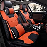 Universal fit car seat covers, easy to clean leather portable Seat Cushion Car 5 seats is fully implemented