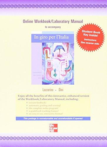 Price comparison product image Quia Online Workbook / Laboratory Manual Access Card for In giro per l'Italia