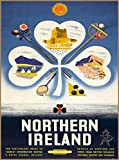 Northern Ireland Irish United Kingdom Great Britain Vintage Travel Advertisement Art Poster Print. Measures 10 x 13.5 inches