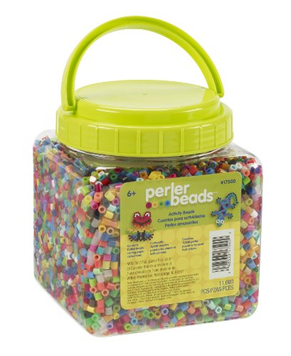 Perler Beads Assorted Multicolor Fuse Beads for Kids Crafts, 11000 pcs -
