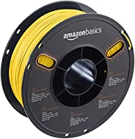 AmazonBasics PLA 3D Printer Filament, 1.75mm, Translucent Yellow, 1 kg Spool from AmazonBasics