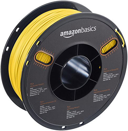 AmazonBasics PLA 3D Printer Filament, 1.75 mm, Gold, 1 kg Spool