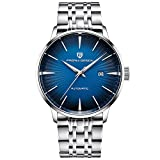 Pagani Design Men's Classic Mechanical Watches Date Waterproof Automatic Stainless Steel Watch for Men (Blue)