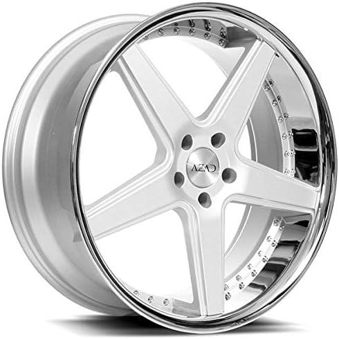 Azad AZ008 – 20 Inch Silver & Chrome Staggered Rims