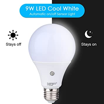 Amazon e27 led sensor light bulbs built in photosensor e27 led sensor light bulbs built in photosensor detection auto switch light indooroutdoor mozeypictures Gallery