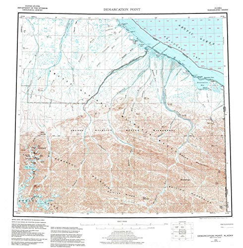 YellowMaps Demarcation Point AK topo map, 1:250000 Scale, 1 X 3 Degree, Historical, 1955, Updated 1983, 22.5 x 22 in - ()
