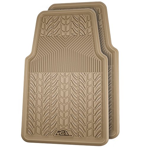 (Custom Accessories 78613 Rubber Interior Floor Mat, Tan, 2-Piece)