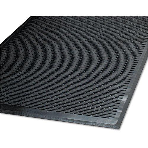 Clean Step Outdoor Rubber Scraper Mat, Polypropylene, 48 x 72, Black, Sold as 1 Each