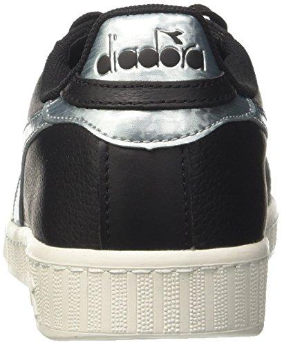 Uomo Sneaker Basso a Diadora Nero Argento Nero Collo Game Metallic nqw11cYEF