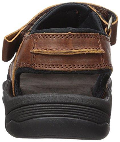 Sandalo Da Uomo In Legno Di Sandl Nero Con 2 Fibbie Medio Orlo Marrone
